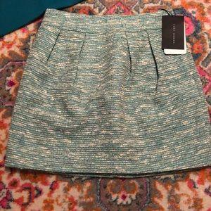 NWT Zara Tweed Skirt Mint With Pockets XS